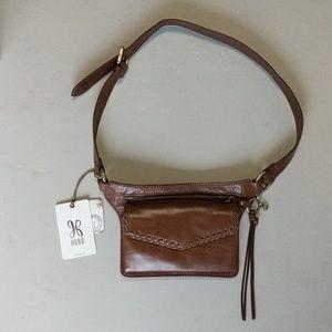 "HOBO Intnl Leather Waist bag *7""L X 6""H X 41.5"""